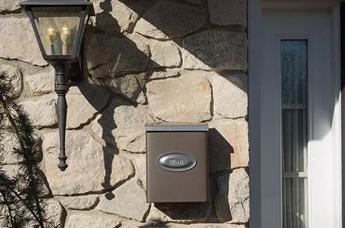 Gibraltar Mailboxes Galvanized Steel Venetian Bronze Wall Mount Mailboxes